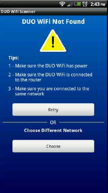 DUO Wifi Not Found